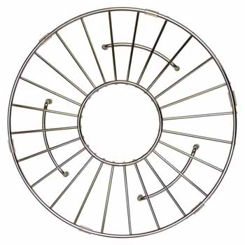 11'' - Round Stainless Steel - Display View