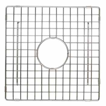 12'' - Square Stainless Steel - Display View