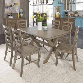 7-Piece Set - Dining Table, 6 Chairs - Close Up