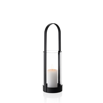 Lantern, Oval Handle, Medium w/ Candle (Not Included)