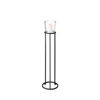 Freestanding Pedestal Candle Holder, Small, Example View (Candle Not Included)