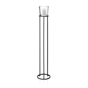 Freestanding Pedestal Candle Holder, Large, Example View (Candle Not Included)