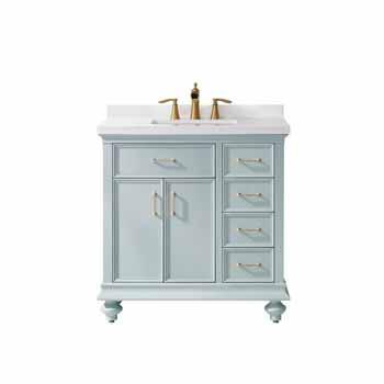 Vinnova Bath Vanity 36'' Finnish Green No Mirror Display
