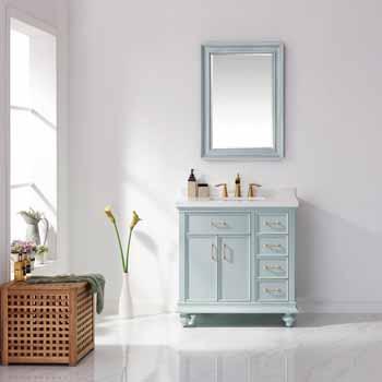 Vinnova Bath Vanity 36'' Finnish Green Lifestyle