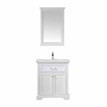 Vinnova Bath Vanity 30'' White Display