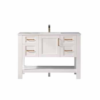 Vinnova Bath Vanity 48'' White No Mirror Display