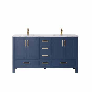 Vinnova Bath Vanity 60'' Royal Blue No Mirror Display