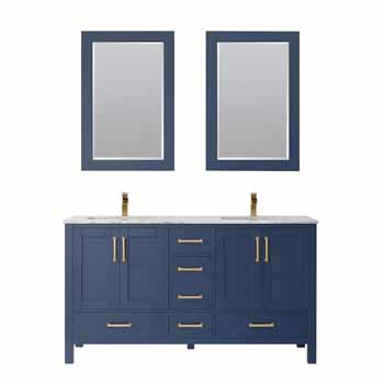 Vinnova Bath Vanity 60'' Royal Blue Display