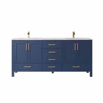 Vinnova Bath Vanity 72'' Royal Blue No Mirror Display