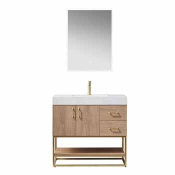Vinnova Bath Vanity 36'' North American Oak Display