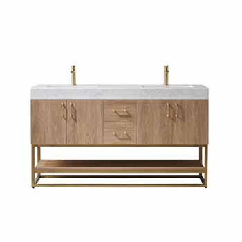Vinnova Bath Vanity 60'' North American Oak Display No Mirror