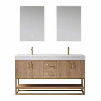 Vinnova Bath Vanity 60'' North American Oak Display
