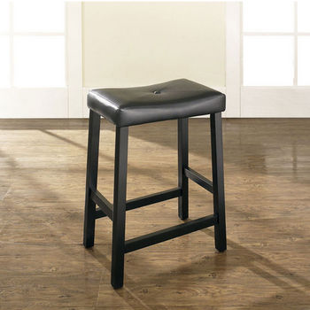 Crosley Furniture Upholstered Saddle Seat Bar Stool