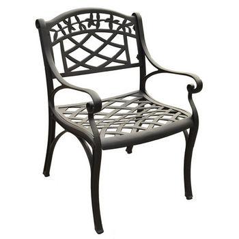 Crosley Furniture Sedona Cast Aluminum Arm Chair in Charcoal Black Finish