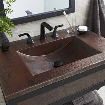 30 36 Width Cozumel Bathroom Vanity Top Only With Integral Bathroom Sink By Native Trails Kitchensource Com