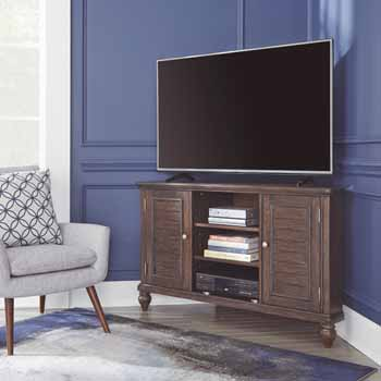 Corner Entertainment Stand - Lifestyle View 2