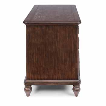 Pedestal Desk - Side View