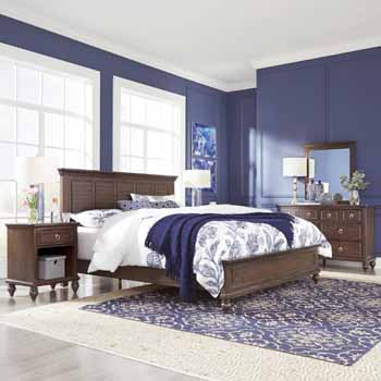 3-Piece Set (2)- King Bed, Night Stand, Dresser & Mirror