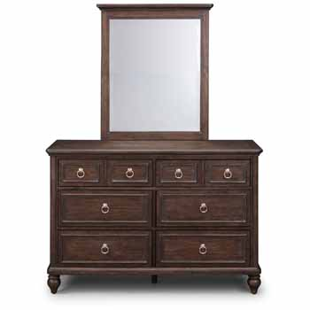 Dresser & Mirror - Closed Front View