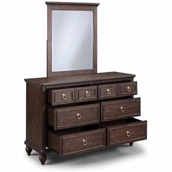 Dresser & Mirror - Open Front View