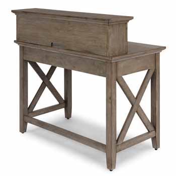 Student Desk With Hutch - Back View