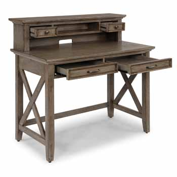 Student Desk With Hutch - Open Angle View