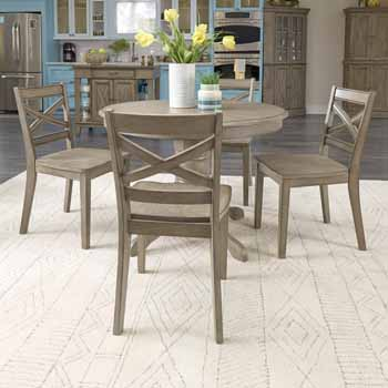 5 Piece Set - Dining Table & 4 Chairs - Full View 1