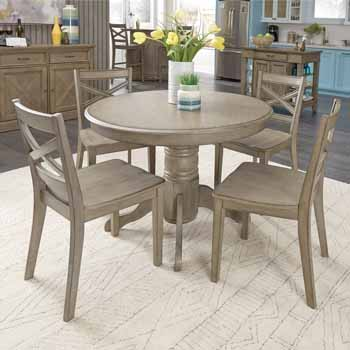 5 Piece Set - Dining Table & 4 Chairs - Full View 2