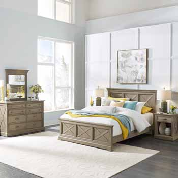 3-Piece Set (2) - Queen Bed, Night Stand, Dresser & Mirror
