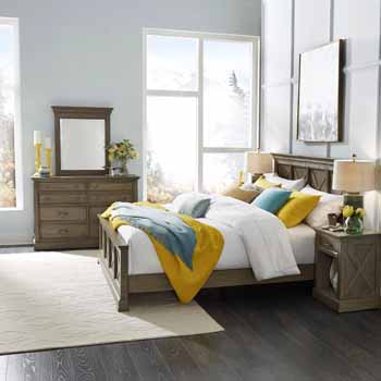 3-Piece Set (2) - King Bed, Night Stand, Dresser & Mirror