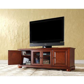 "Crosley Furniture Alexandria 60"" Low Profile TV Stand in Classic Cherry Finish"