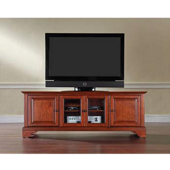 "Crosley Furniture LaFayette 60"" Low Profile TV Stand in Classic Cherry Finish"