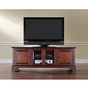 "Crosley Furniture LaFayette 60"" Low ProfileTV Stand in Vintage Mahogany Finish"