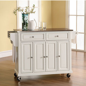 Crosley Furniture Stainless Steel Top Kitchen Cart/Island