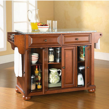 Crosley Furniture Alexandria Solid Granite Top Kitchen Island