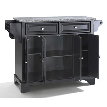 Crosley Furniture LaFayette Solid Granite Top Kitchen Island