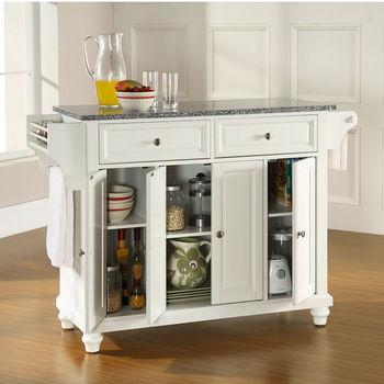 Crosley Furniture Cambridge Solid Granite Top Kitchen Island