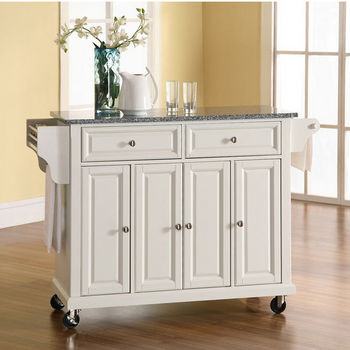 Crosley Furniture Solid Granite Top Kitchen Cart/Island