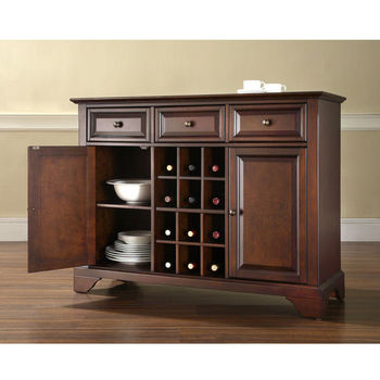 Crosley Furniture LaFayette Buffet Server / Sideboard Cabinet with Wine Storage