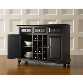 Crosley Furniture Cambridge Buffet Server / Sideboard Cabinet with Wine Storage