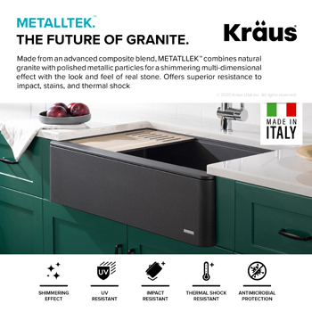 Kraus Kitchen Sink MetallTek Material