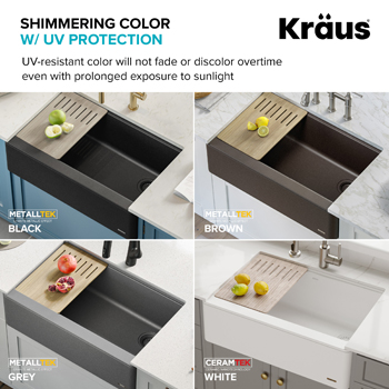 Kraus Kitchen Sink Shimmering Surface