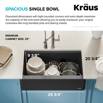 Kraus Kitchen Sink Spacious Basin