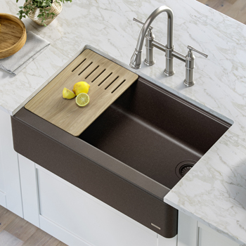 Kraus Kitchen Sink Main View Brown