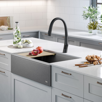 Kraus Kitchen Sink Lifestyle View Grey 1