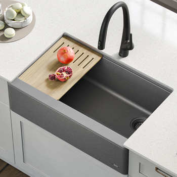 Kraus Kitchen Sink Main View Grey