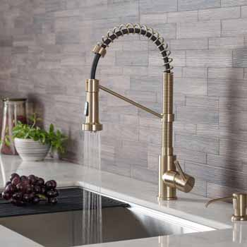 Brushed Gold - Sink and Faucet View 2