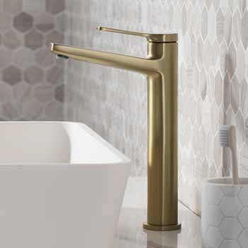 Brushed Gold - Faucet Close Up 1