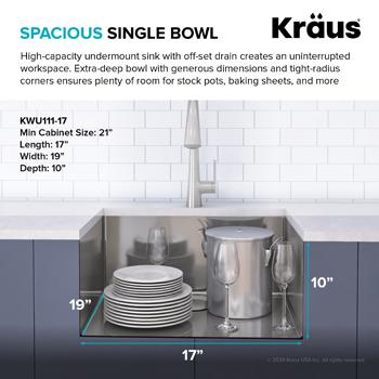 Kraus Kitchen Sink Spacious Basin