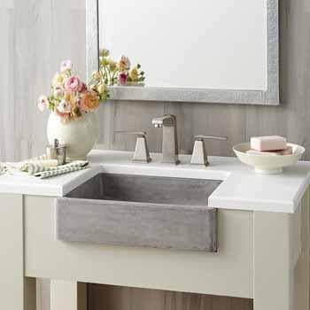 Nipomo Rectangular Bathroom Concrete Sink Measuring 19 1 2 W X 15 D X 4 1 2 H By Native Trails Kitchensource Com
